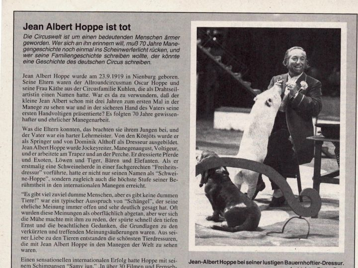 Jean Albert Hoppe – Auszug aus einem Nachruf