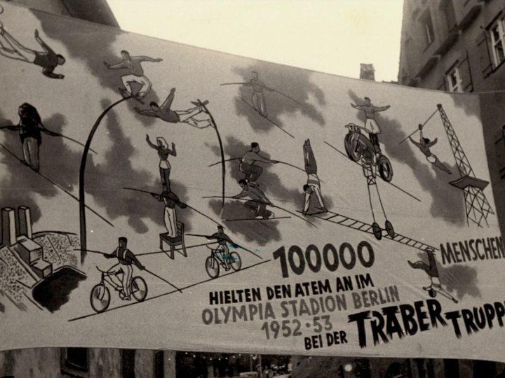 Werbung für die Traber-Truppe