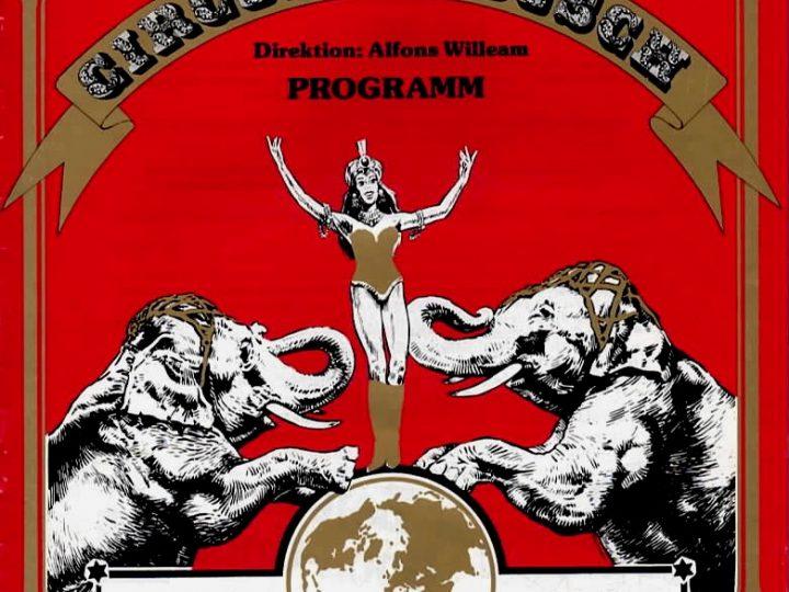 """Programmheft """"Circus Carl Busch"""", 1980er"""