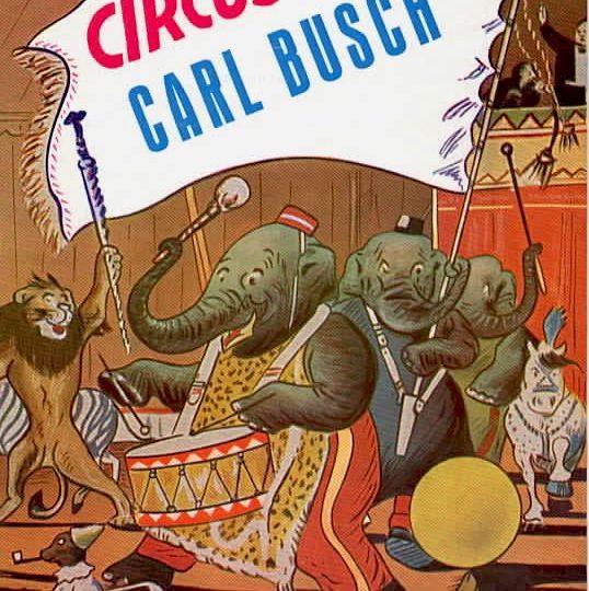 """Programmheft """"Circus Carl Busch"""", 1955"""