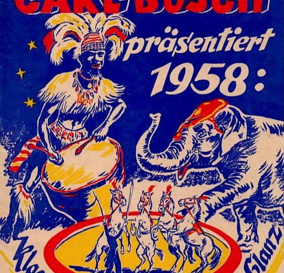 """Programmheft """"Circus Carl Busch"""", 1958"""